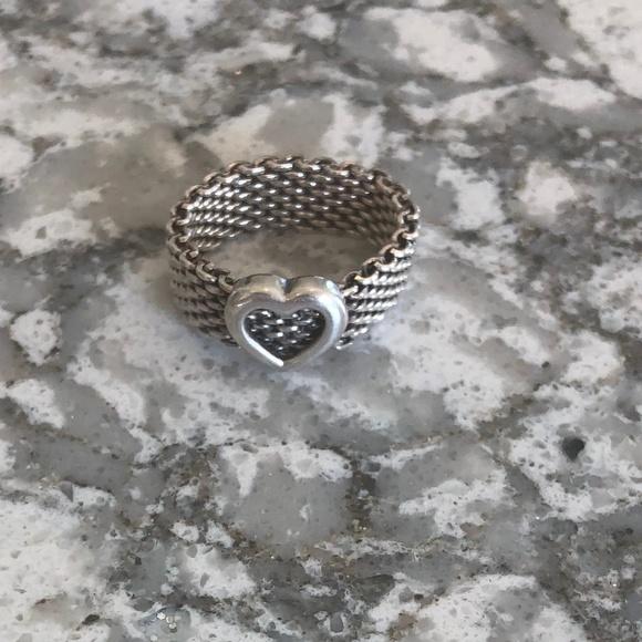 Tiffany & Co. Jewelry - Tiffany & Co. Mesh ring with heart SIZE 6